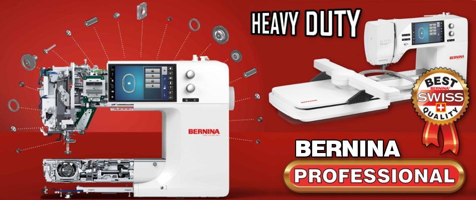 BERNINA PROFESSIONAL - Wzmocniona konstrukcja i metalowe podzespoły