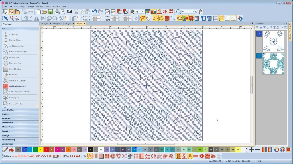 Program do haftu komputerowego BERNINA-WILCOM Designer