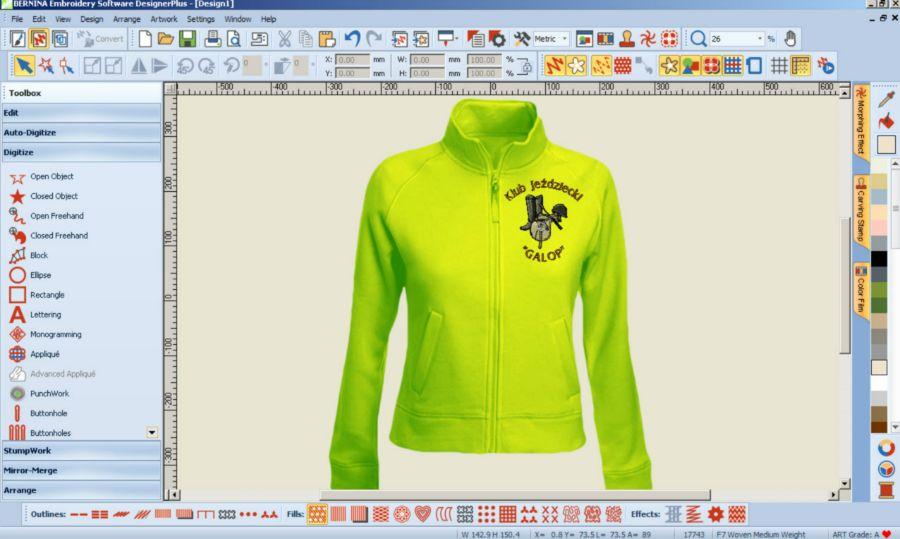 Program do hafciarki - BERNINA-WILCOM Designer
