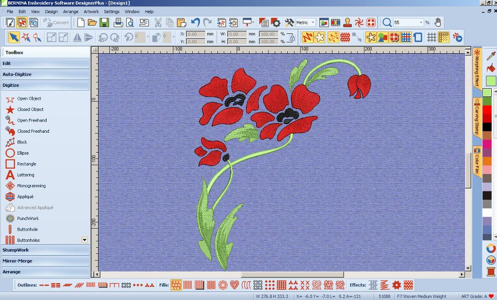 BERNINA-WILCOM Embroidery Software - DESIGNER - Program do haftu