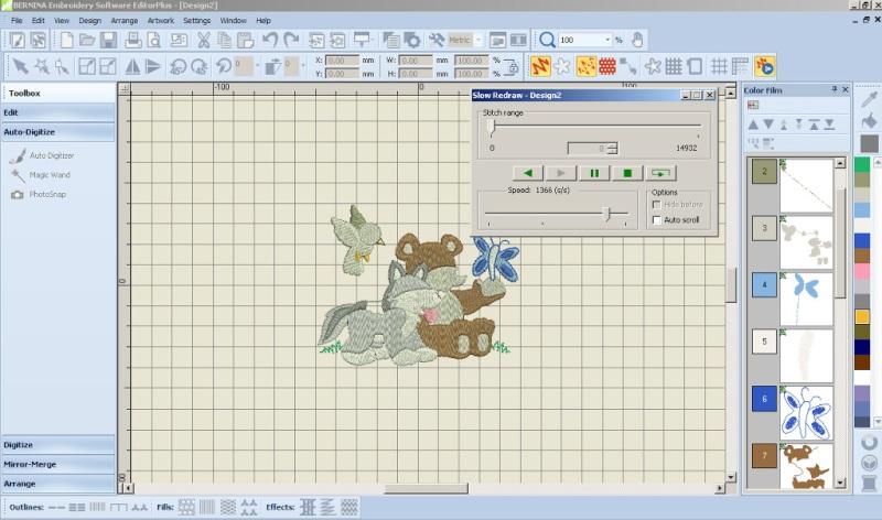 Oprogramowanie hafciarskie BERNINA-WILCOM Editor Plus