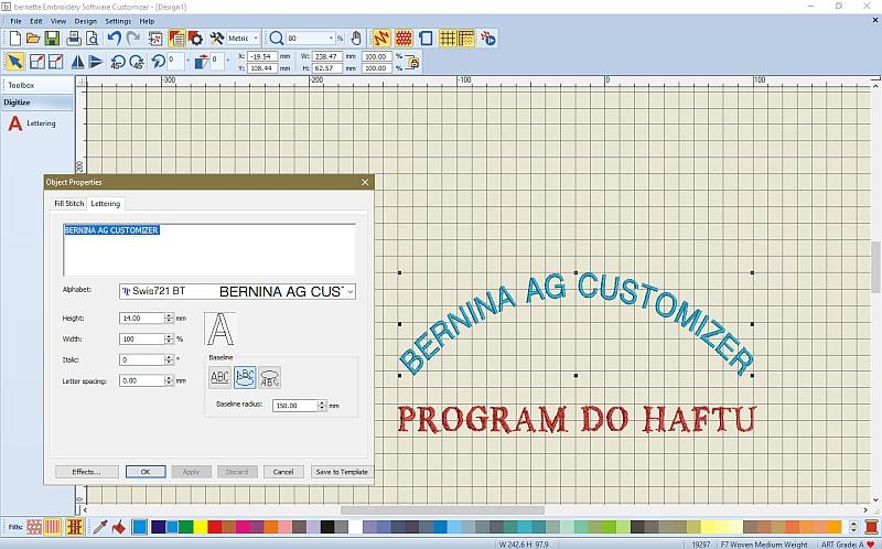 Program do haftu BERNINA AG Customizer - Nie tylko do hafciarki BERNINA