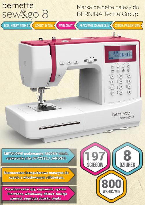Maszyna do szycia BERNINA SewGo 8 - Najważniejsze informacje