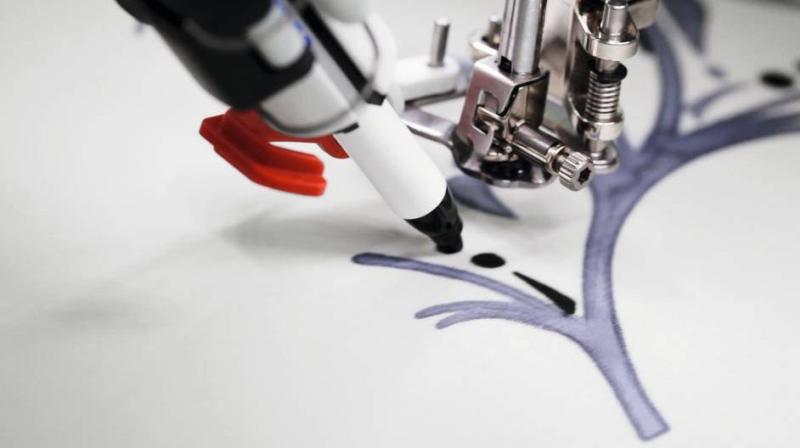 BERNINA PaintWork - Malowanie pisakami za pomocą Multi-Hafciarki