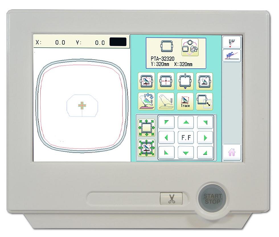 Ekran sterujący w maszynie do haftowania HAPPY HCH 701