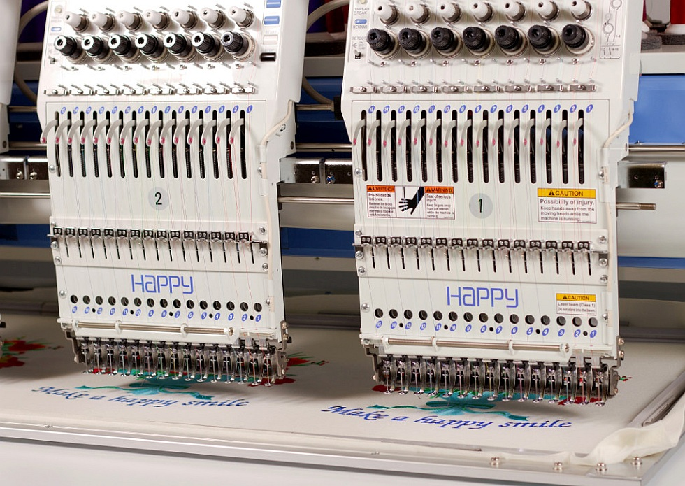 Wielogłowicowy przemysłowyautomat hafciarski (hafciarka komputerowa)