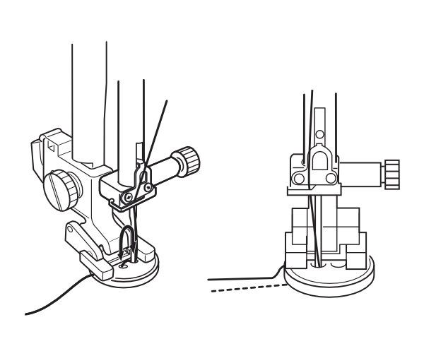 Stopka do przyszywania guzika na maszynie do szycia