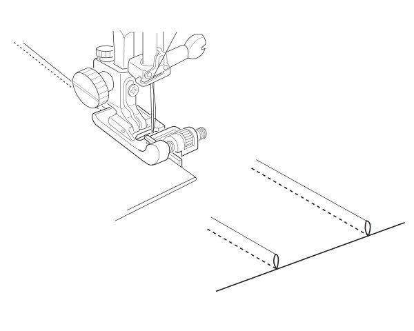 Stopka do ściegu krytego, ślepego - do maszyny do szycia