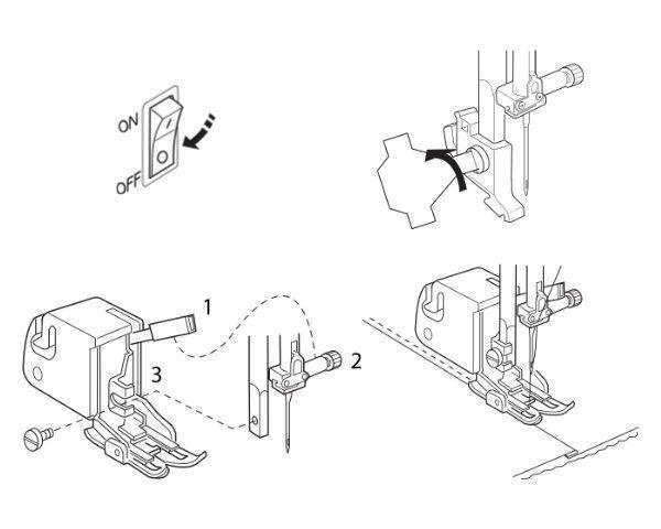 Stopka z górnym transportem do maszyn do szycia