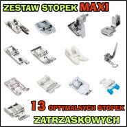 Zestaw MAXI - 13 OPTYMALNYCH stopek do maszyny do szycia (zatrzaskowy system MATIC)