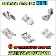 Zestaw MINI - 6 OPTYMALNYCH stopek do maszyny do szycia (zatrzaskowy system MATIC)