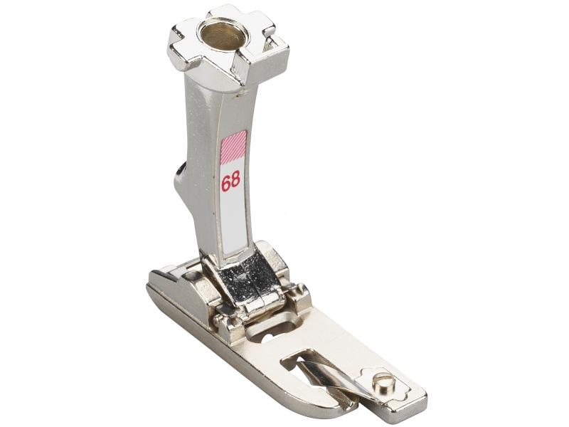 Stopka trzepieniowa do maszyn do szycia BERNINA Professional - #68 do podwijania i obrzucania ściegiem owerlokowym z prowadnikiem 2mm
