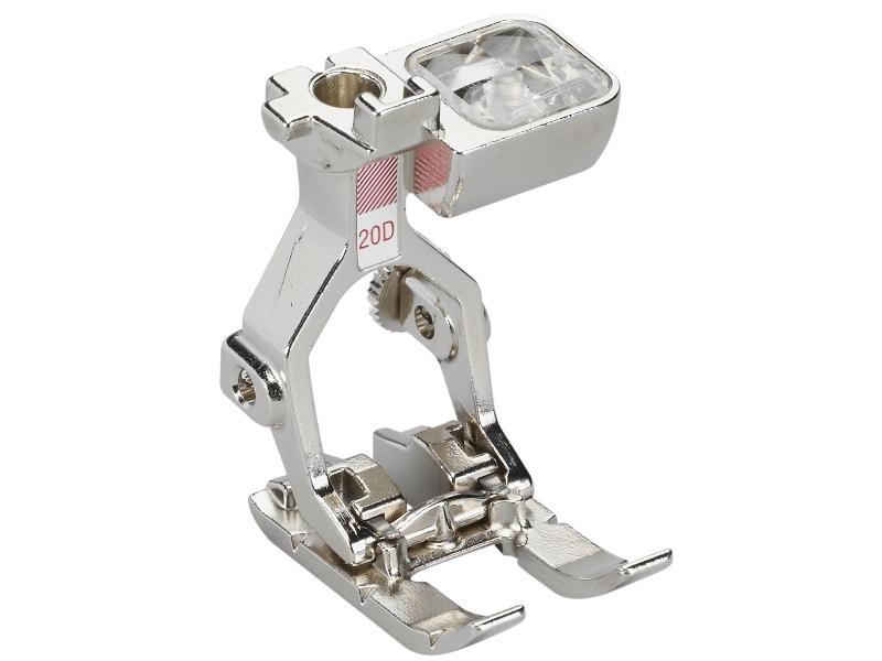 Stopka trzepieniowa do maszyn do szycia BERNINA Professional - #20D otwarta stopka do śceigów dekoracyjnych i haftowania. Dual Feed