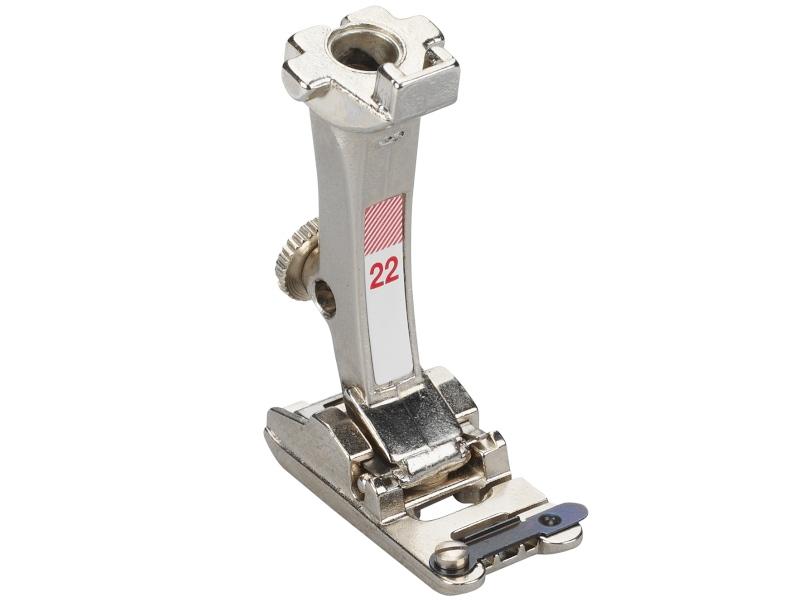 Stopka trzepieniowa do maszyn do szycia BERNINA Professional - #22 do wszywania sznurków, wełny, kordonków z 3 otworami