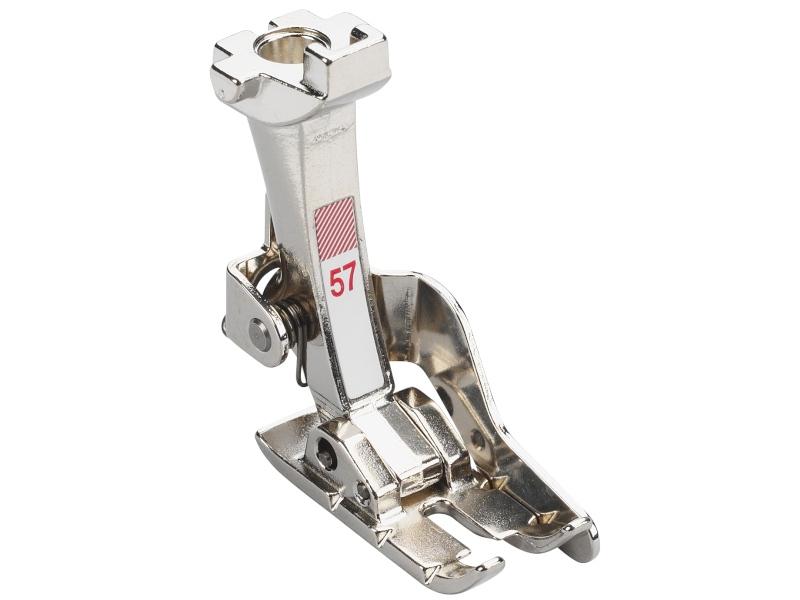 Stopka trzepieniowa do maszyn do szycia BERNINA Professional - #57 z prowadnikiem do szycia patchworku.