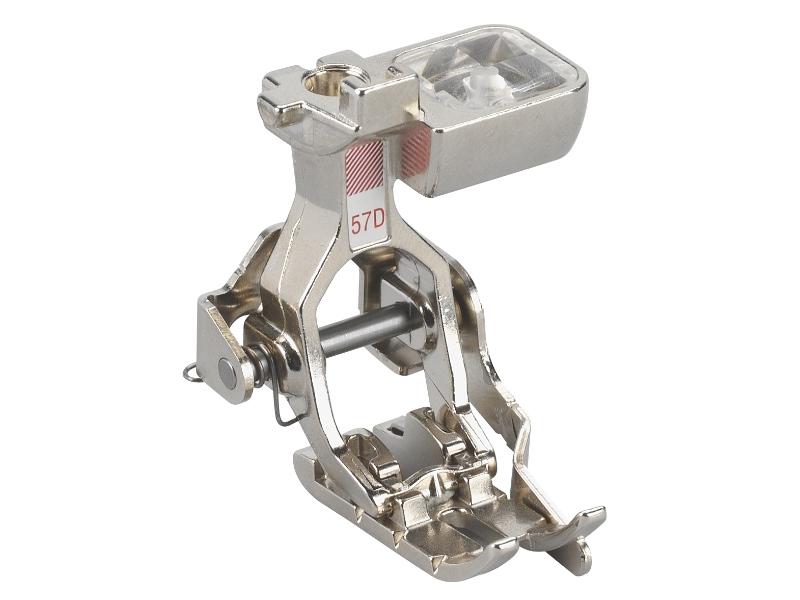Stopka trzepieniowa do maszyn do szycia BERNINA Professional - #57D do szycia patchworku. Posiada prowadnik krawędziowy. Współraca z górnym transportem