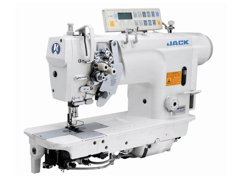 JACK JK 58450 D-403 - 2-igłowa stębnówka automatyczna z wył. igłami