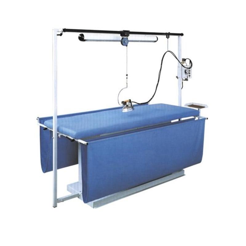 COMEL MP-FC-A-T 300x75 cm - Stół do prasowania zasłon. Instalacja centralnej pary