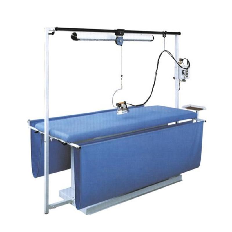 COMEL MP-F-A-T 300x100 cm - Stół prasowalniczy do prasowania zasłon i firan z wytwornicą pary