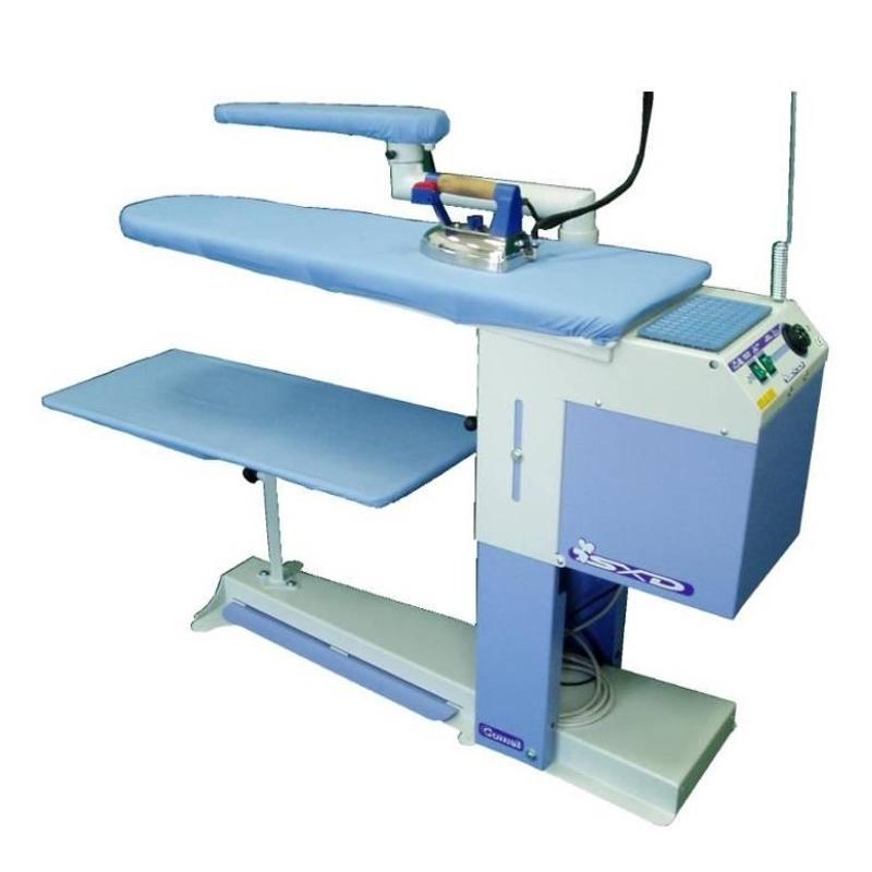 COMEL BR-A-SXD - Stół do prasowania z regulowaną wysokością. Podgrzewany blat i odsysanie pary