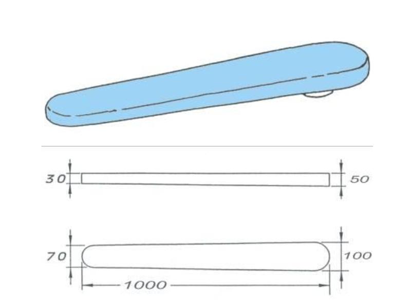 Prasulec 100 cm do prasowania spodni podgrzewany elektrycznie. Do stołów COMEL