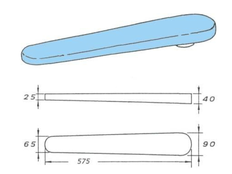 Prasulec 57.5 cm do prasowania rękawów koszul podgrzewany elektrycznie