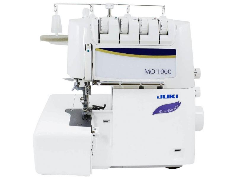 Najbardziej zaawansowany owerlok 4-nitkowy z pneumatycznym nawlekaniem JUKI corp. MO 1000
