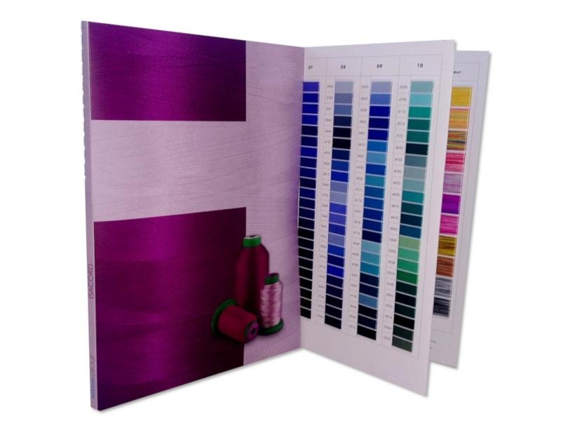 Oryginalny wzornik kolorów nici do haftu AMANN ISACORD 40