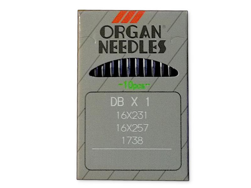 """Igły szwalnicze ORGAN DBx1 (16x231) """"Cienka Kolba"""" do stębnówek przemysłowych. Grubość 70-130"""