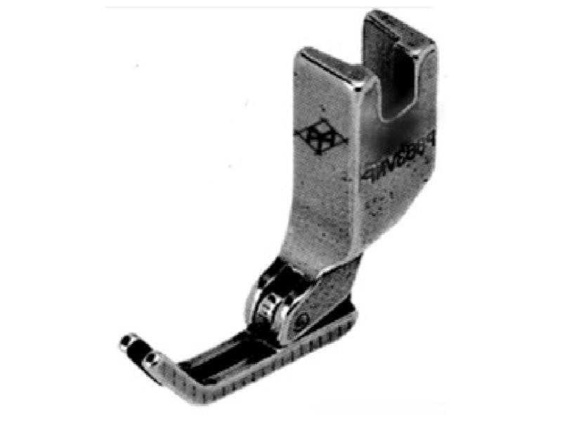 Stopka z wąskimi płozami do stębnówki z transportem ząbkowo-iglowym np. JUKI DLN-5410N