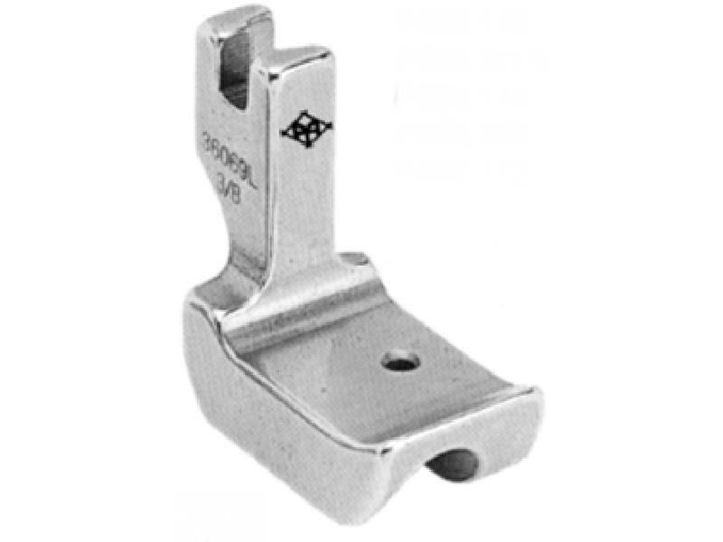 Stopka do stębnówki przemysłowej P69L do wszywania sznurka (kordonku, wypustki, bizy) LEWA, sztywna płoza. Rozmiary