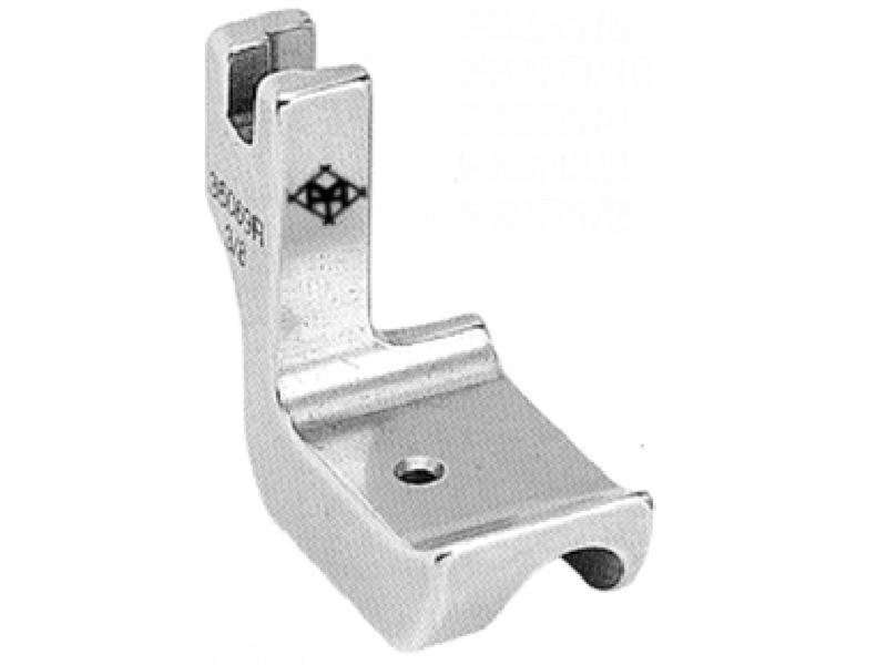 Stopka do stębnówki przemysłowej P69R do wszywania sznurka (kordonku, wypustki, bizy, pipingu) PRAWA, sztywna płoza. Rozmiary