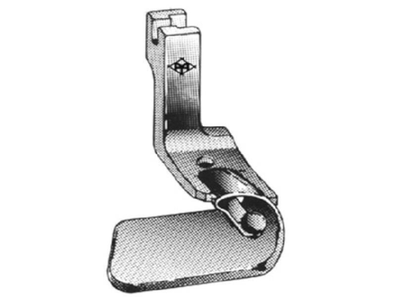 Stopka zwijająca (obrębiająca, podwijająca) H610 do stębnówek jednoigłowych. Różne rozmiary