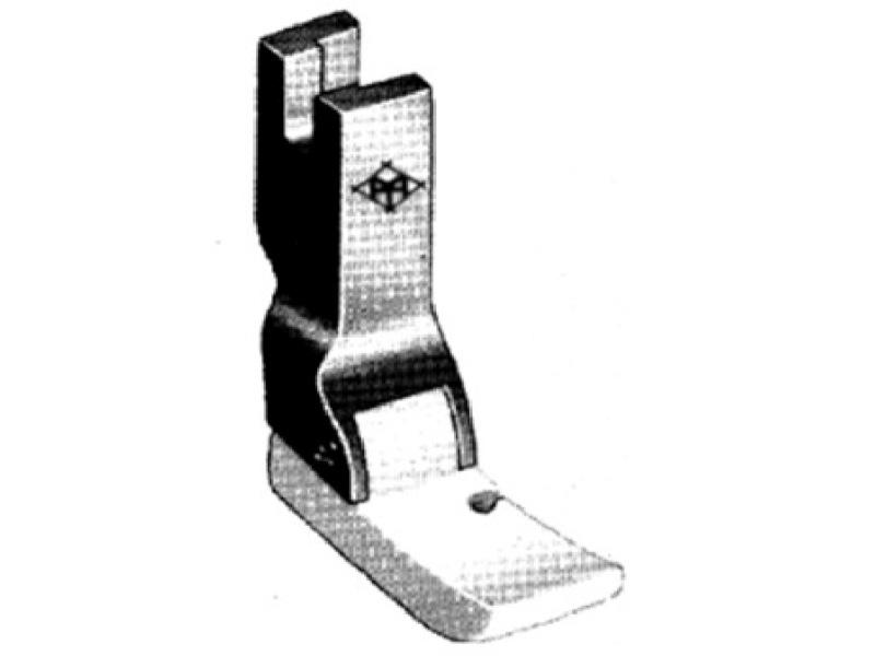 Półstopka teflonowa T36 krawędziowa PRAWA np. do wszywania zamków. Do stębnówki
