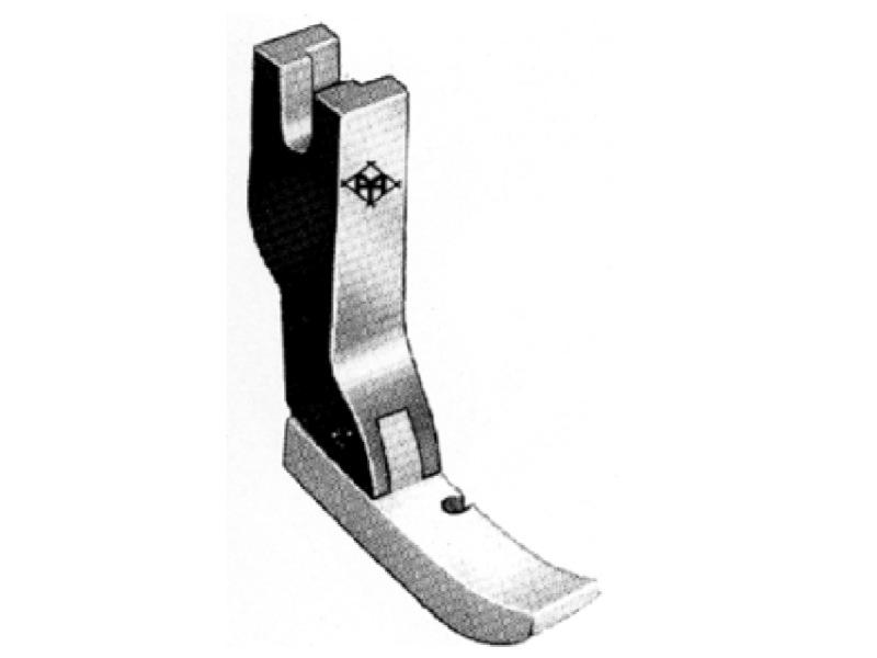 Półstopka teflonowa T36N krawędziowa PRAWA np. do wszywania zamków. Do stębnówki