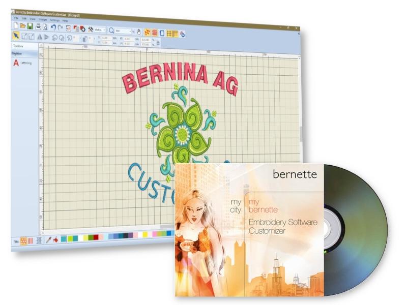 Program do hafciarki projektowanie napisów i edycja haftów BERNINA AG CUSTOMIZER