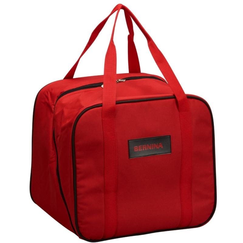 Oryginalna usztywniana torba BERNINA RED BAG na owerlok, coverlock renderkę. Do transportu i przechowywania