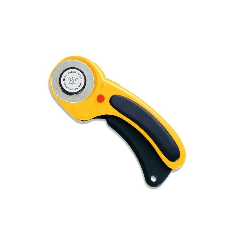 Nóż krążkowy DeLuxe 45mm OLFA RTY-2/DX do patchworku, rozkroju, wykrojów i nie tylko