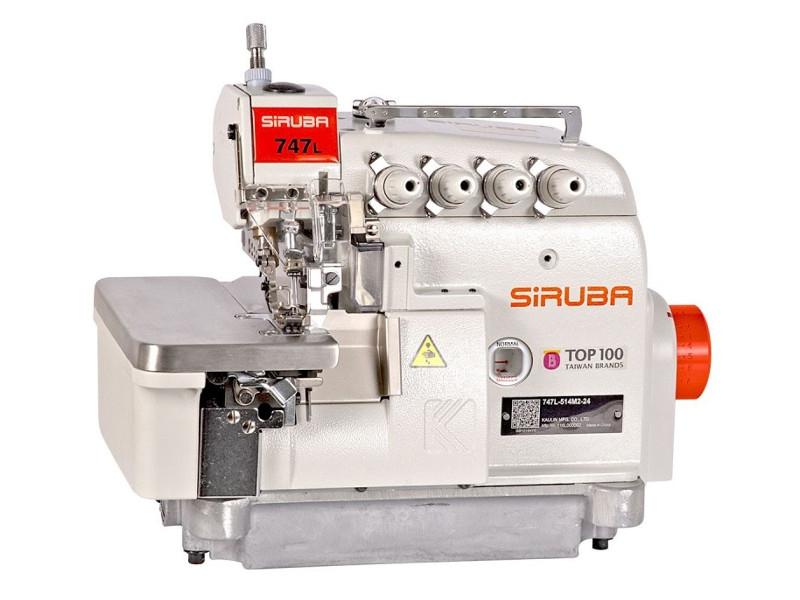 SIRUBA 737L(DD)-504M3-04 - Przemysłowy owerlok 3-nitkowy