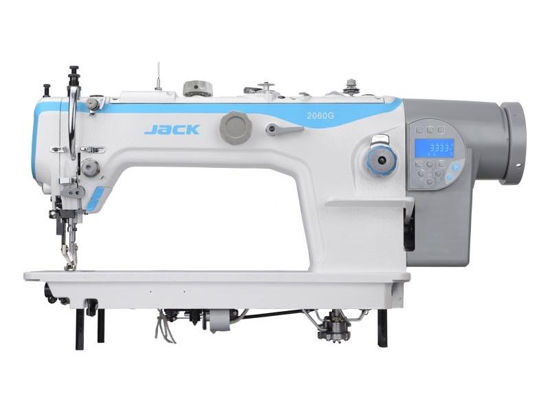 JACK JK 2060G-4Q - Automatyczna stębnówka z potrójnym transportem do ciężkiego szycia
