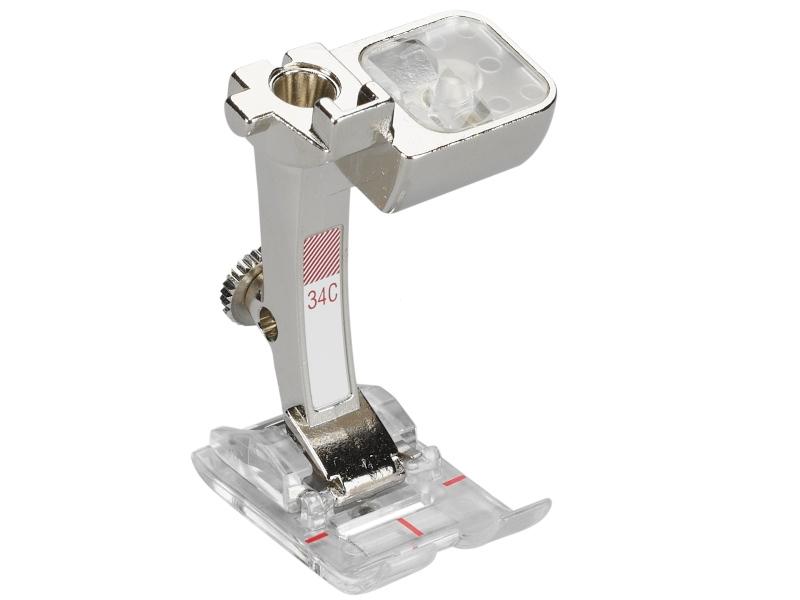 Stopka trzepieniowa do maszyn do szycia BERNINA Professional - #34C Uniwersalna Przeźroczysta ścieg 9mm