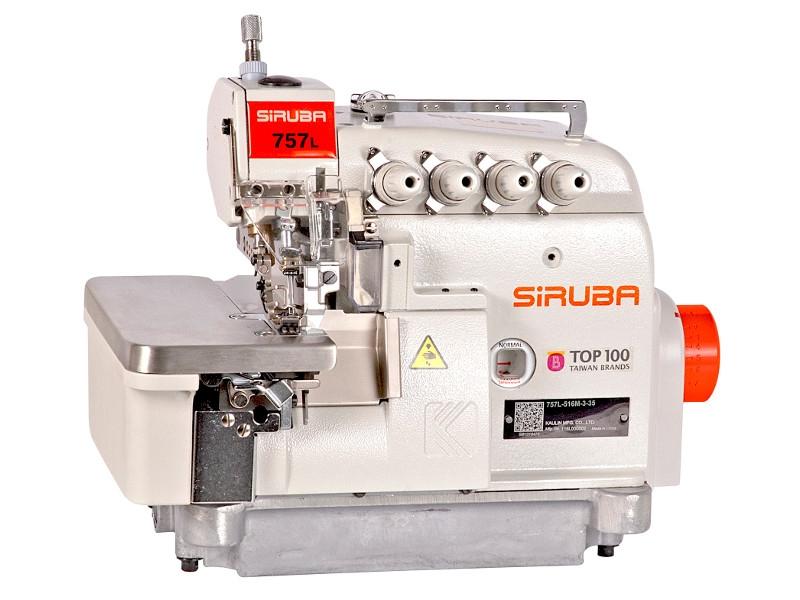 Owerlok SIRUBA 757L-516M3-35 (-55)/DKLH - 5-nitk. overlock przemyusłowy 7500 śc. na minutę