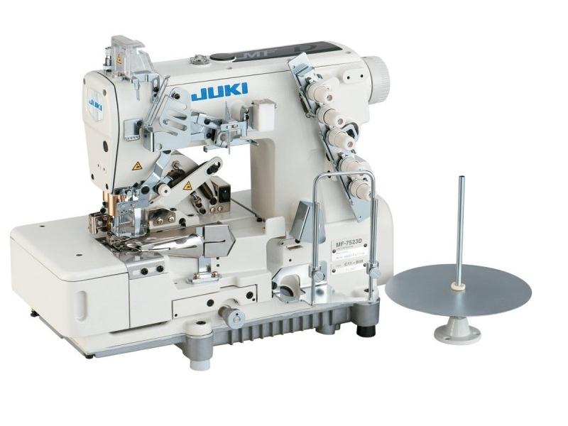 Lamowarka przemysłowa JUKI MF 7523 (MF7523-C11) renderka płaska w wersji do lamowania