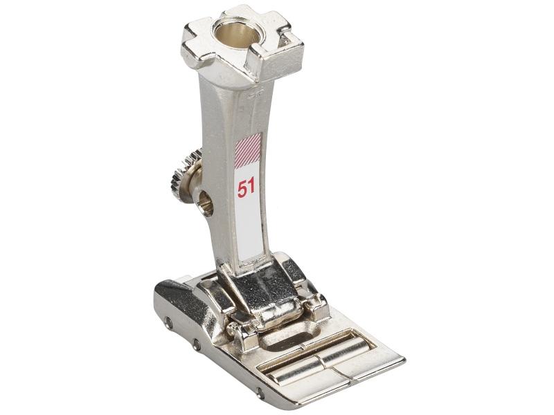 Stopka trzepieniowa do maszyn do szycia BERNINA Professional - #51 z rolkami do szycia skóry