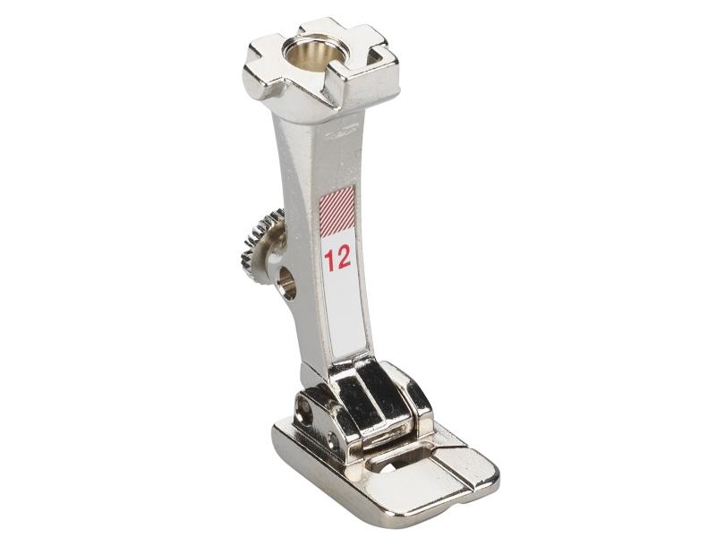 Stopka trzepieniowa do maszyn do szycia BERNINA Professional - #12 do wszywania wełny, rzemyka, perełek do maszyn ze sciegiem do 5,5mm