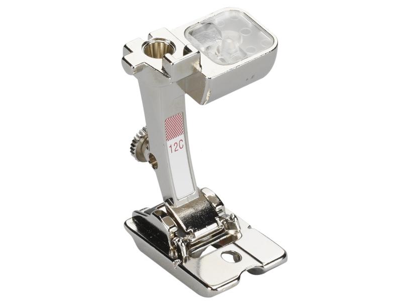 Stopka trzepieniowa do maszyn do szycia BERNINA Professional - #12C do wszywania wełny, rzemyka, perełek do maszyn ze sciegiem do 9mm