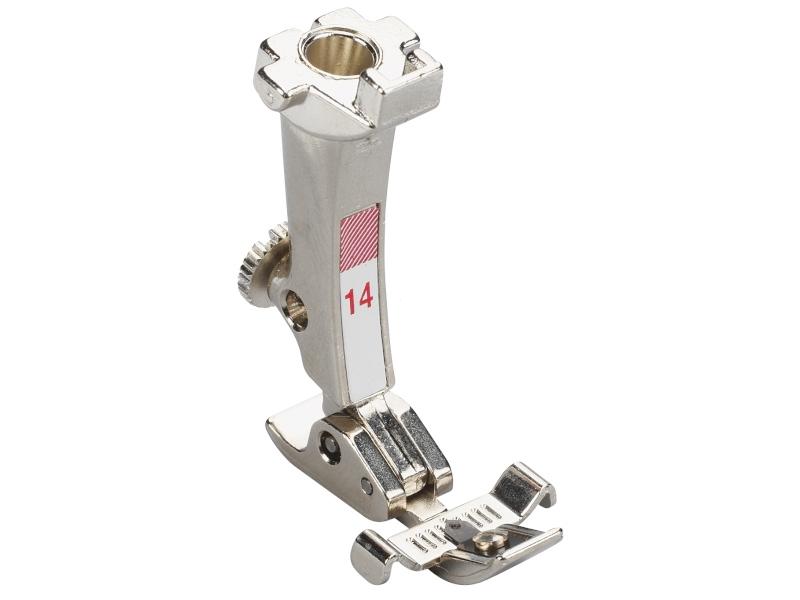 Stopka trzepieniowa do maszyn do szycia BERNINA Professional - #14 z prwadnikami do zamka błyskawicznego