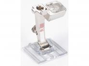 Stopka trzepieniowa do maszyn do szycia BERNINA Professional - #46C do bizowania pipingu zakładek z przeźroczystą płozą