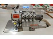SIRUBA 747LD ECA BKT - Owerlok 4 nitkowy z automatycznym zaszywaniem łańcuszka