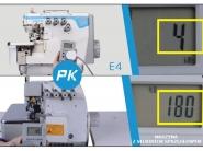 JACK JK E4-5-A04/435 - Przemysłowy overlock 5-nitkowy do grubszego szycia